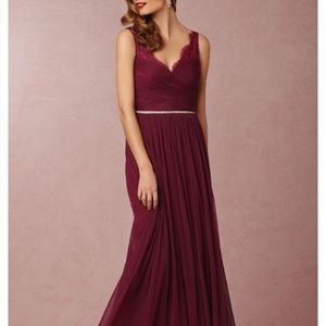 BHLDN Fleur Dress Black Cherry Size 4